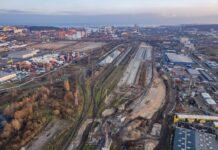 Węzeł kolejowy w porcie Gdynia